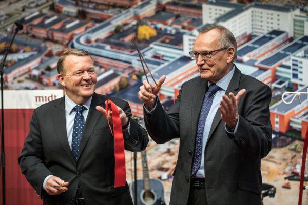 Statsminister Lars Løkke Rasmussen og Regionsrådsformand Bent