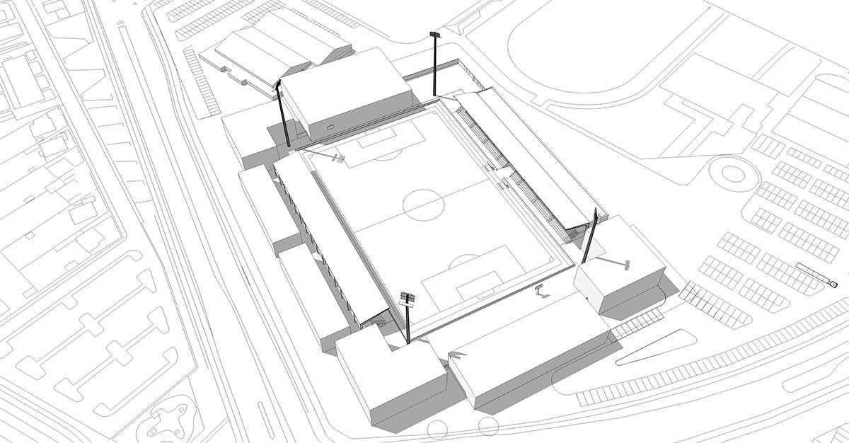 koege-stadion-model